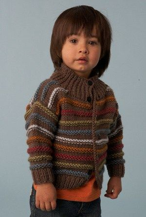Boy's Striped Cardigan Free Knitting Pattern