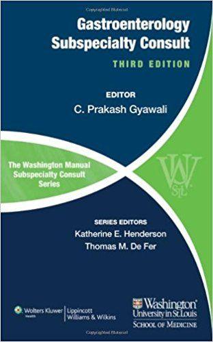 40 best pulmonary books pdf images on pinterest the washington manual of gastroenterology subspecialty consult the washington manual subspecialty consult third edition fandeluxe Choice Image