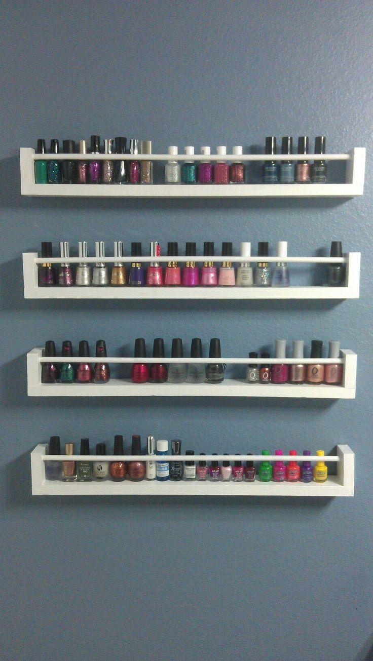 Nail polish storage etagere à epice