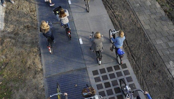 Solarradweg bei Amsterdam ein voller Erfolg
