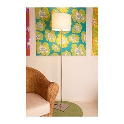 IKEA - ALÄNG, Floor lamp, nickel plated/gray, , The height is adjustable to suit your lighting needs.
