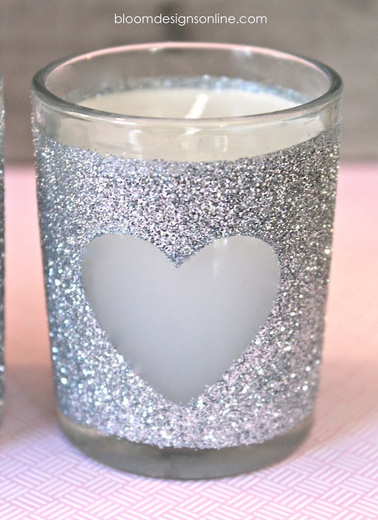 DIY: Glittered Votives What a great idea for little hostess gifts for different times of the year or just in general!!!