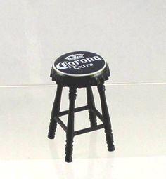 Cute!...Artisan Miniature Corona Beer Top Bar Stool