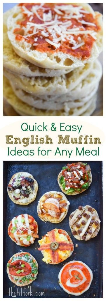 Quick & Easy English Muffin Ideas For Any Meal -- these 10 minute recipes perfect for breakfast, lunch, dinner, snack and dessert! Toaster oven and kid friendly!