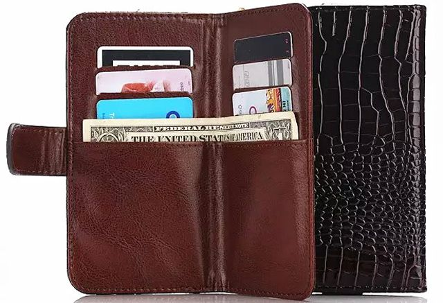Outdoor Lady Strap Hand Card Wallet Leather Mobile Phone Cases Bags Pouch For ZTE Blade A610 V7 Max,Axon 7 mini,nubia Z11 mini S