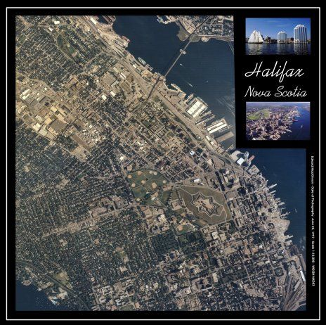 Aerial photo mosaic of #Halifax Nova Scotia created with PCI Geomatica software
