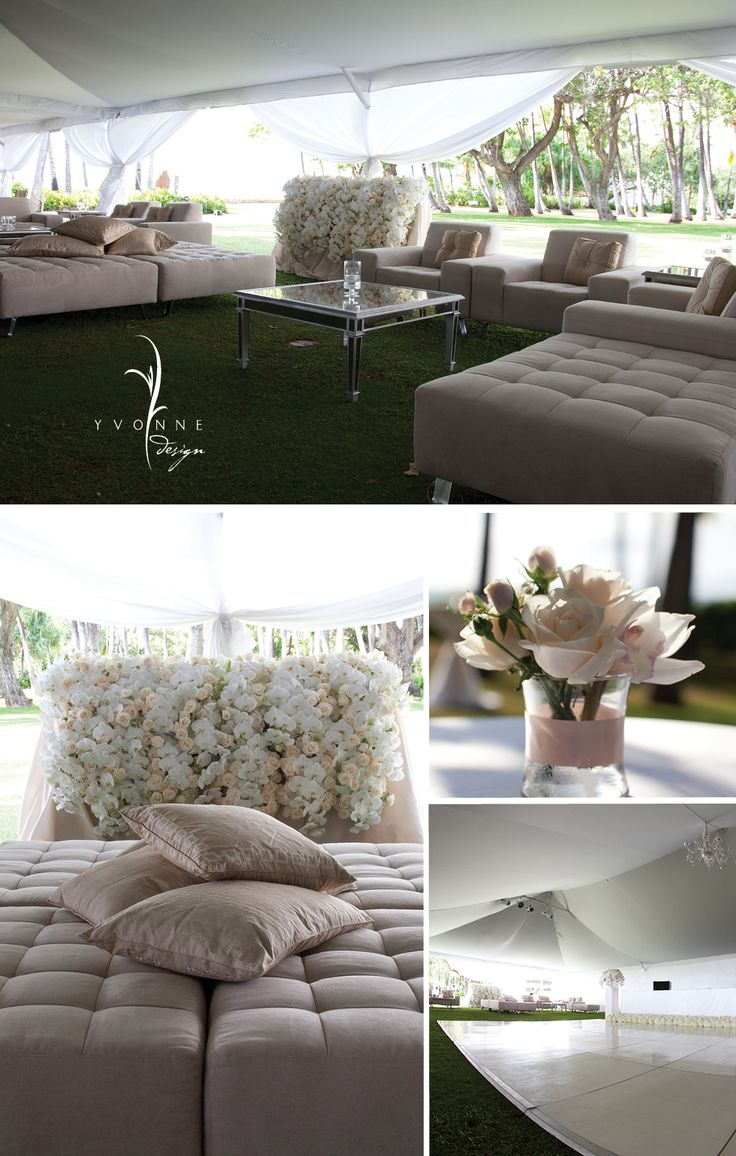 chillaxin lounge -  outdoor wedding