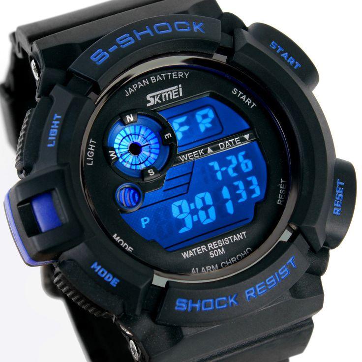 Мужчины спортивные часы S-SHOCK военные часы мода наручные часы для дайвинга мужские спортивные из светодиодов цифровые часы водонепроницаемый Relogio Masculino