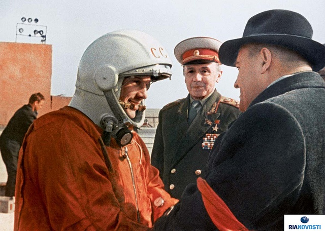 Yuri Gagarin and Sergei Korolev
