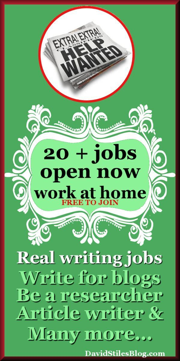 Article writer work from home