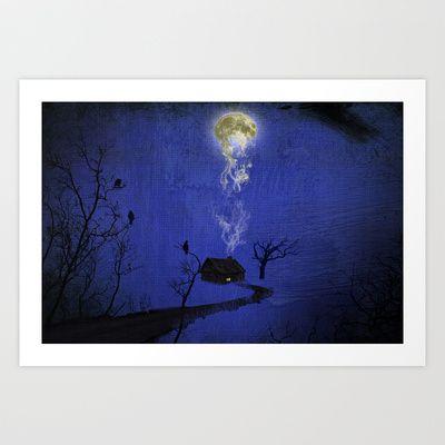 Way to home Art Print by Oscar Tello Muñoz - $19.00