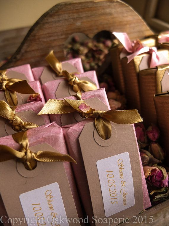 25 Natural soap wedding favours custom made and by OakwoodSoaperie