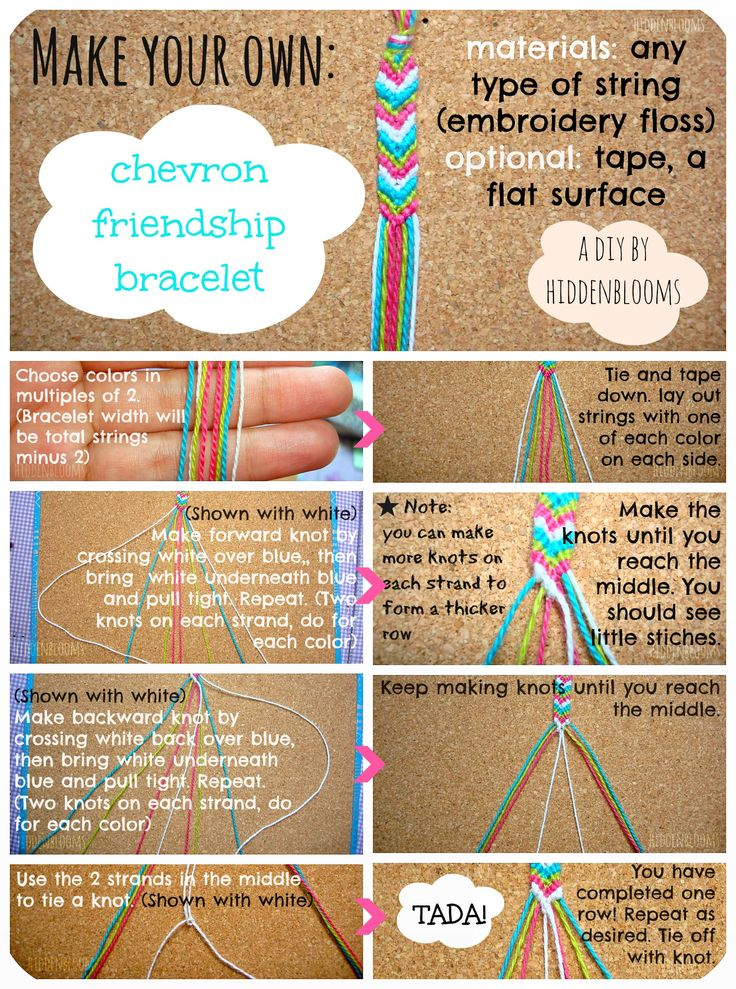 DIY Chevron Friendship Bracelet-- This is one of the best tutorials I've found, and trust me- I've looked at a PLETHORA of them!