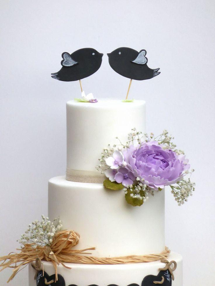 Love Birds Chalk Board Wedding Cakes