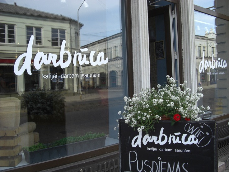 Darbnica Cafe and bar, Liela iela 8, Liepaja main street.  Fun place to chill out. Just a two minute walk from LuxHighTech vacation apartment. Perfect place for a quick lunch, or a light evening snack.