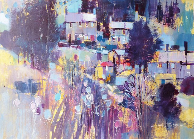 Gullane Art Gallery | Chris Forsey, Blue frosting | acrylic/media on paper | 33x40cm
