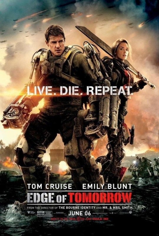 Edge of Tomorrow (2014)  Dir. Doug Liman   Tom Cruise, Emily Blunt, Bill Paxton