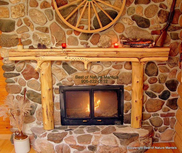 Rustic Corner Wood Burning Stove Rustic Fireplace Mantel