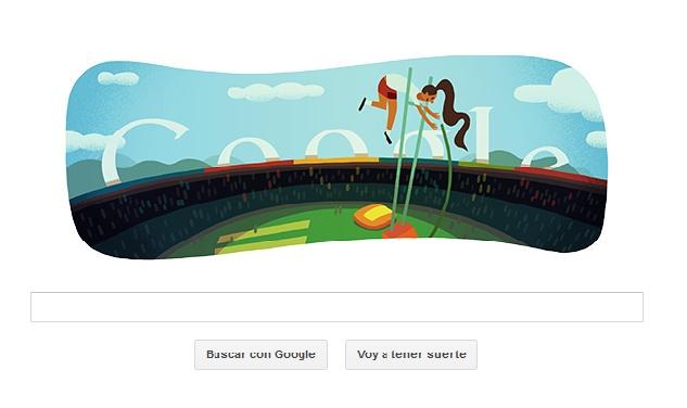 Doodle Salto con pértiga - Google #londres2012
