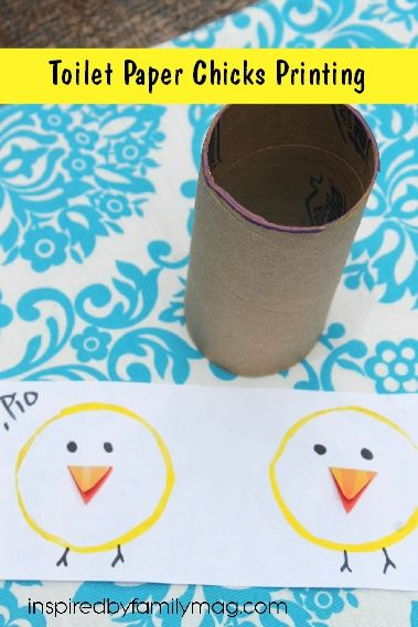 Toilet Paper Chicks Printing and Spanish Fun for Kids: Los Pollitos Nursery Rhyme