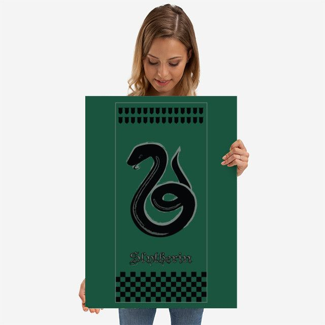 26% OFF all products this weekend  Use code: SPRING26 . Magic School house banner Fandom Poster by Scar Design | Displate. #housebanner #fantasy #magic #fandom #harry #green #snake #books #bookworm #wizard #magical #booklovers #sigil #art #artist #design #modern  #sale #sales #discount #posters #gifts #giftideas #homegifts #39 #wallart #livingroom #decoration #home #homedecor #cool #awesome #giftsforhim #giftsforher #displate #kids #kidsroom