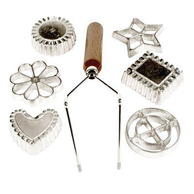Fox Run Craftsmen 7 Piece Cookies Rosette and Timbale Set