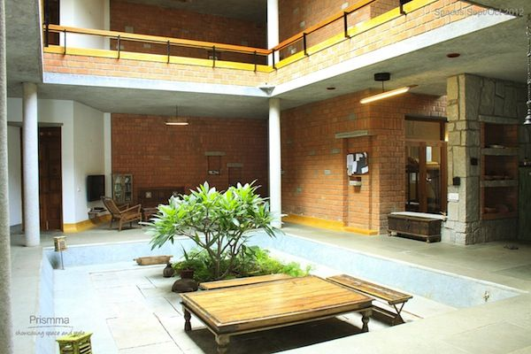 75 best courtyard images on pinterest indoor courtyard for Courtyard house designs india