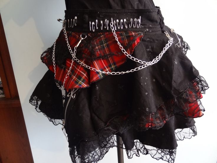 BLOOD STORM VISUAL KEI ASYMMETRICAL SKIRT
