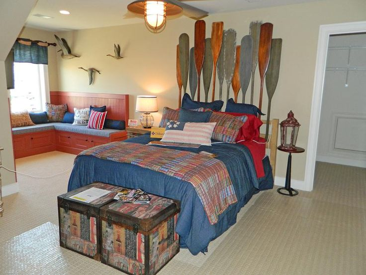 168 best beach coastal bedrooms images on pinterest for Sailor themed bedroom
