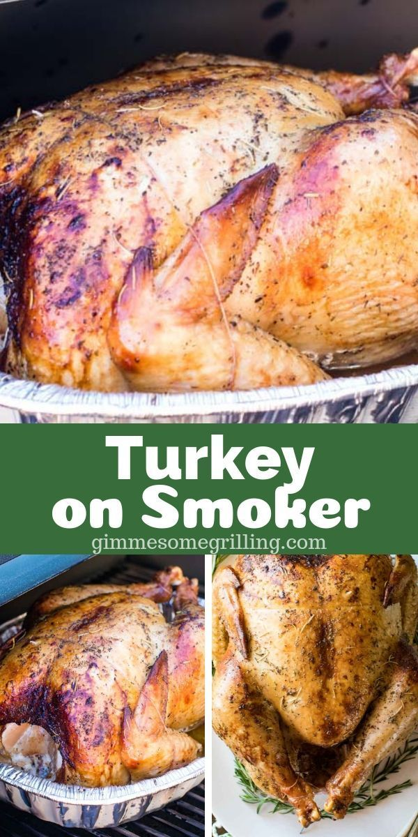 Whole Smoked Turkey That Is Brined Overnight And Then Seasoned Cooked On Your Electric Smoker For A Deli Smoked Food Recipes Smoked Meat Recipes Smoked Turkey