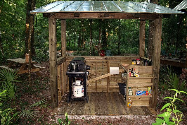 1000 images about diy grill canopy shelter gazebos and for Outdoor kitchen shed