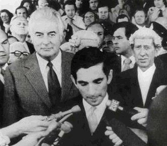 David Smith, the Governor-General's secretary, reads the Proclamation Dissolving Parliament on the afternoon of November 11, 1975 (The Dismissal of PM Gough Whitlam - pictured).