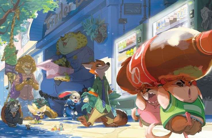 And continuing my trend of Disney characters with vending machines, here's a proper Zootopia piece!! I love the story, characters, and world so much and I hope I captured a bit of all that in the piece.