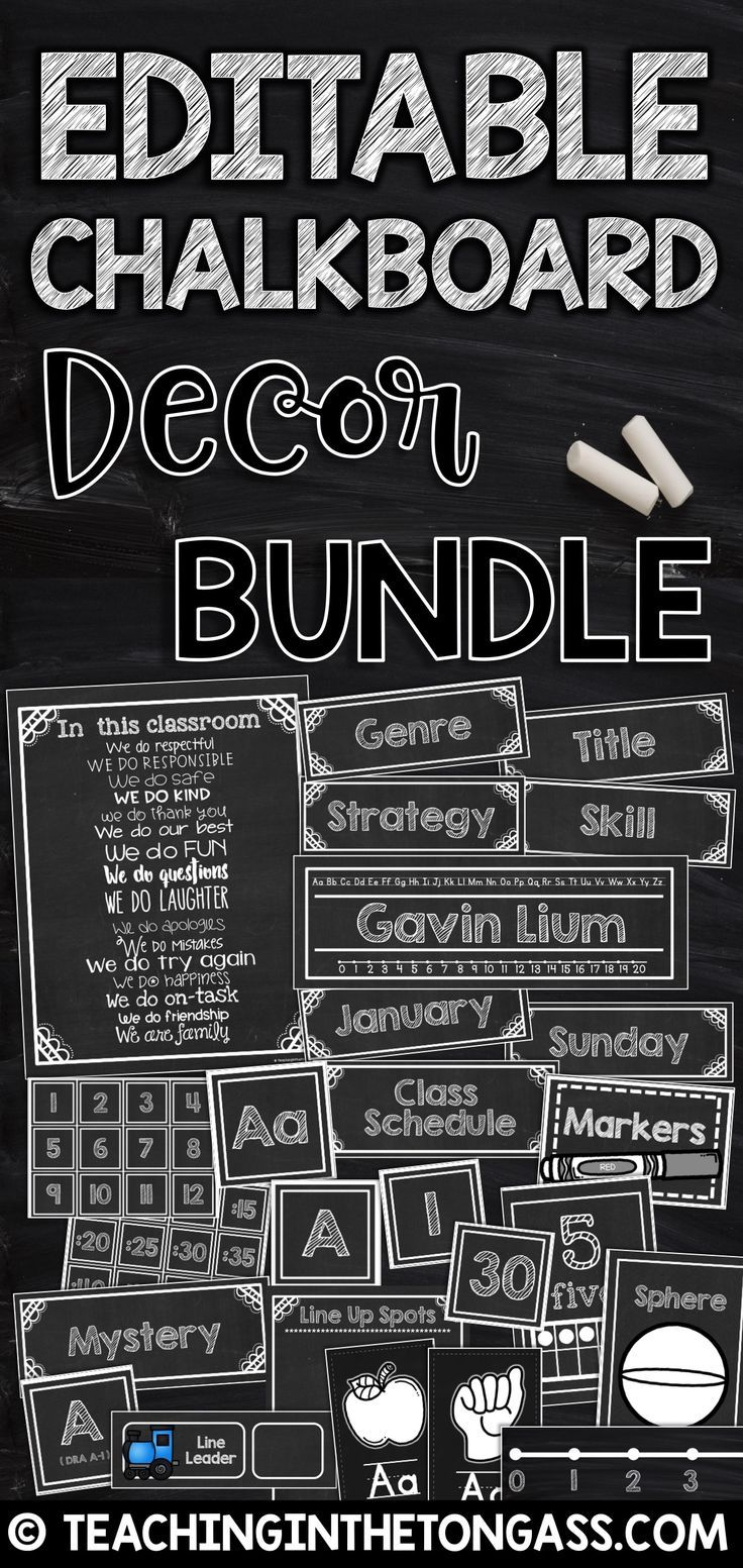chalkboard classroom decor editable editable labels more best