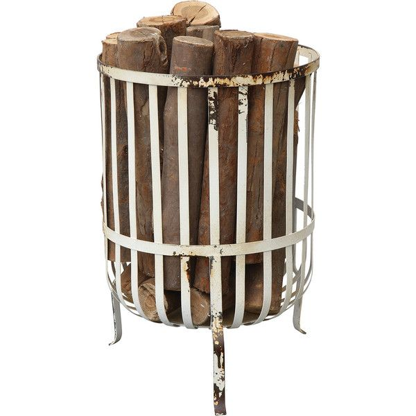 Dot Bo Maranatha Wood Holder 141 Liked On Polyvore Featuring Home Home Decor Fireplace