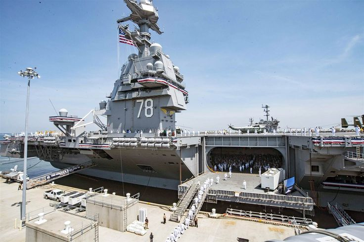 Trump Calls Aircraft Carrier USS Gerald Ford Symbol of American ...