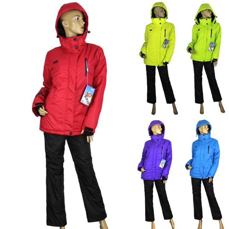 Женщины зима открытая толстая тепловая спортивная одежда лыжный костюм женское пальто лыжные куртки + брюки 2 шт. костюм 5 цветов бесплатная доставка