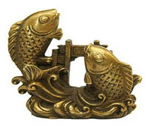 feng shui fish and figurine on pinterest. Black Bedroom Furniture Sets. Home Design Ideas
