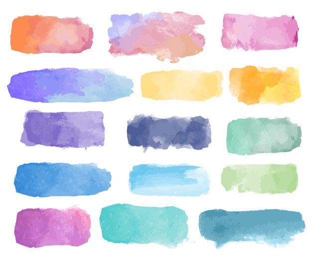 Colorful Watercolor Patch Background Vector Free Vector In 2019