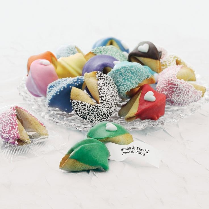 Personalized Fortune Cookies Wedding Favor | #exclusivelyweddings | #limewedding