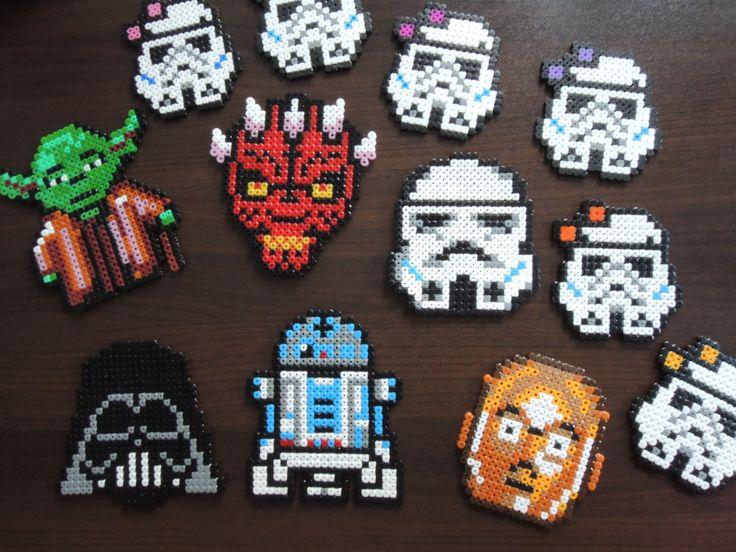 Star Wars Untersetzer (Kindergeburtstag) aus Bügelperlen, mehr Ideen zum Star Wars Kindergeburtstag findet ihr auf meiner Seite! Perler Beads