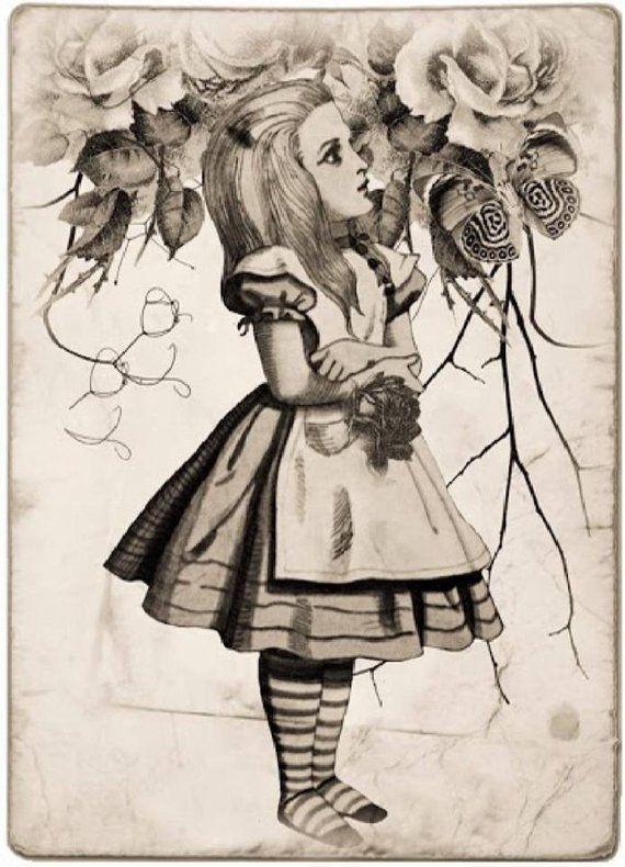 Картинки из алисы в стране рисунки