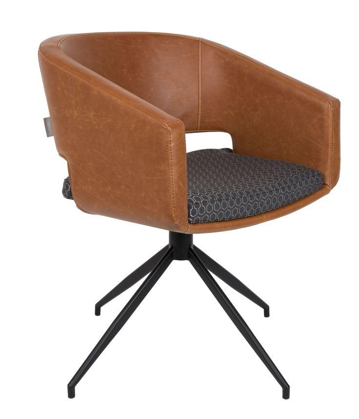 Beau fauteuil bruin - Zuiver