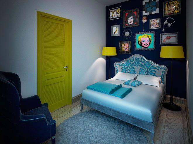 Спальня. Квартира для молодой пары в стиле Pop-Art - дизайн кухни в СПб
