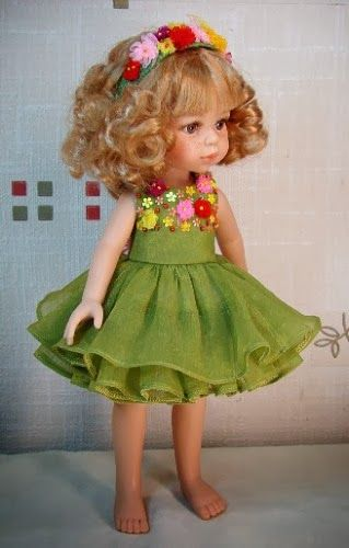 Flower dress for Paola Reina doll