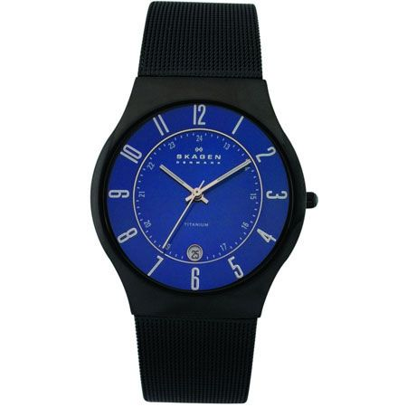 Skagen Titanium Mens Watch - Titanium with Date Function: Asquiths Jewellers