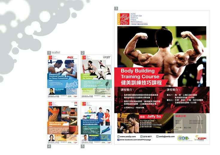 2D > Graphic > Asian Academy For Sports & Fitness Professionals Job Nature: Leaflet Design