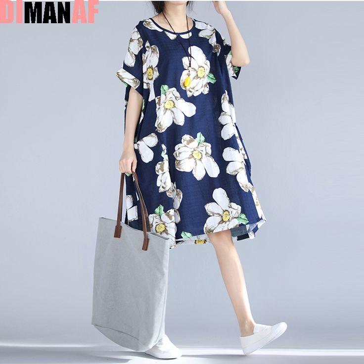 Plus Size Women Dress Floral Print Beach Dresses Summer Style Female Casual Vintage Large Size Fashion Tops Elegant Midi Dresses