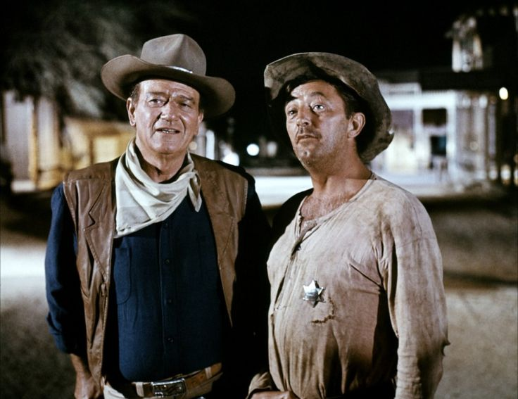 John Wayne And Robert Mitchum In El Dorado 1966
