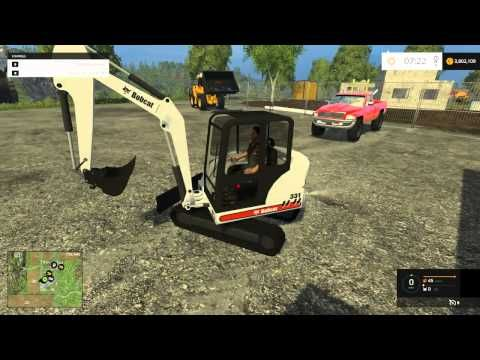 Farming Simulator 2015 - Mining and Construction Map With Mods! - YouTube